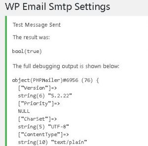 WP Email SMTP Test Success